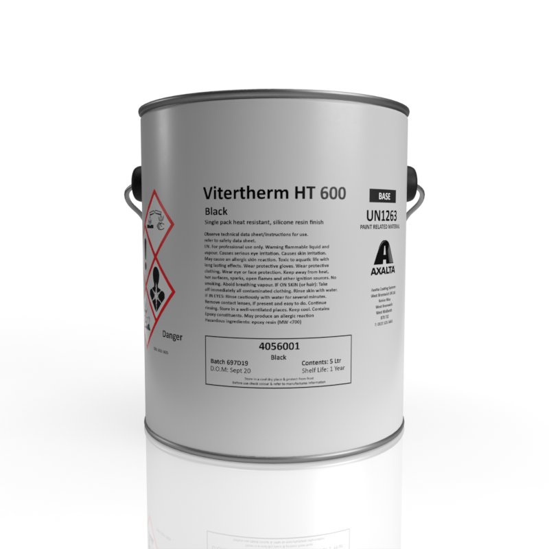 Axalta - ViterTherm HT600 HR - Silicone Resin-Based Finish