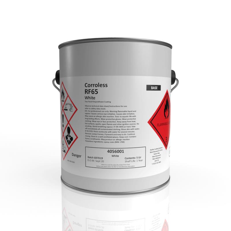 Corroless RF65 - acrylic polyurethane topcoat with a Semi-Gloss finish