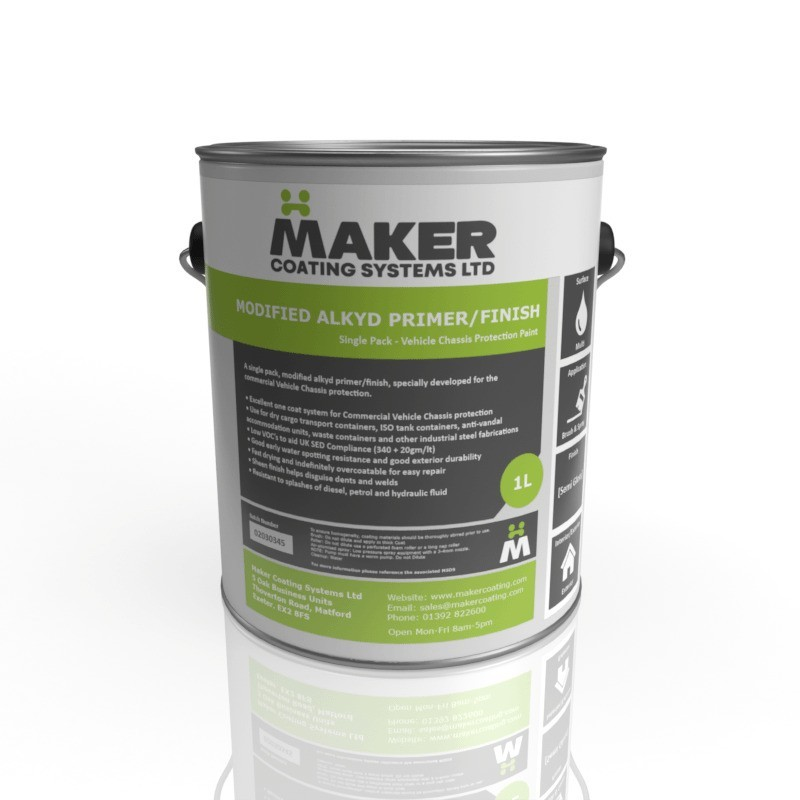 Maker Coating - Fast Drying Alkyd Commercial Vehicle Chassis Paint