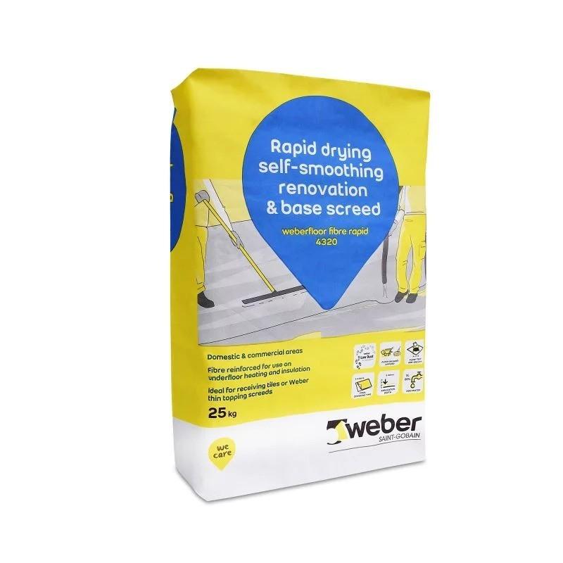 Weber - Weberfloor Fibre Rapid 4320 - Self Smoothing Screed